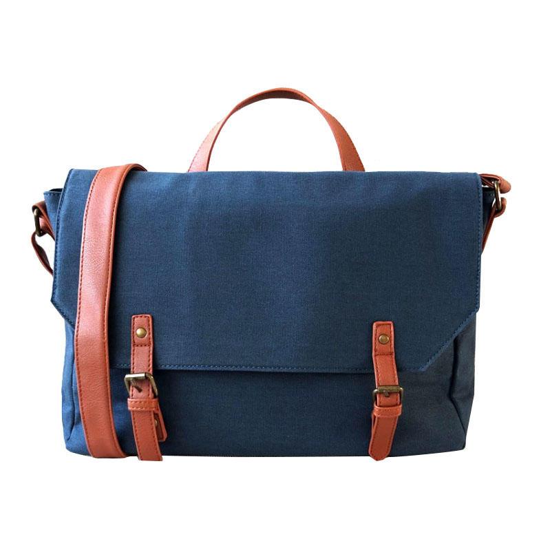 Custom Computer Messenger Bag Water Resistance Canvas Shoulder Bag 15.6 Inch Laptop