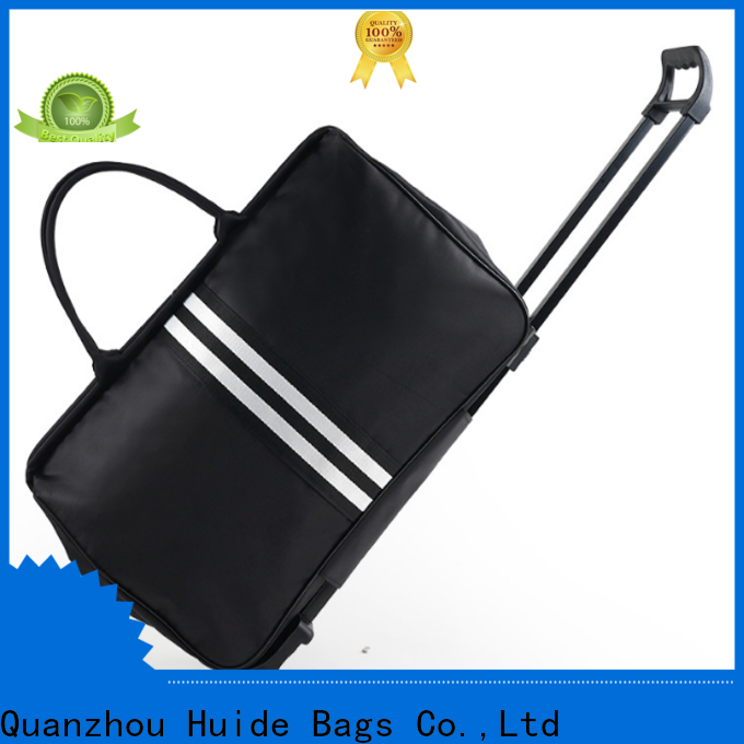 Huide camping 4 wheeled duffle luggage suppliers for travel