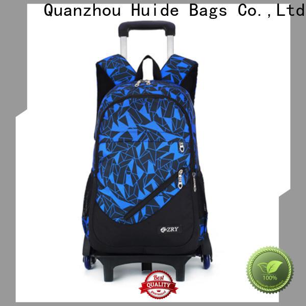 Huide unisex big trolley school bags factory for boy