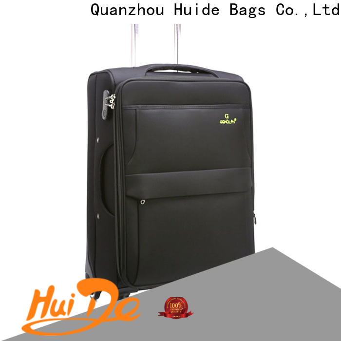 Huide wheels high quality soft luggage factory for kids