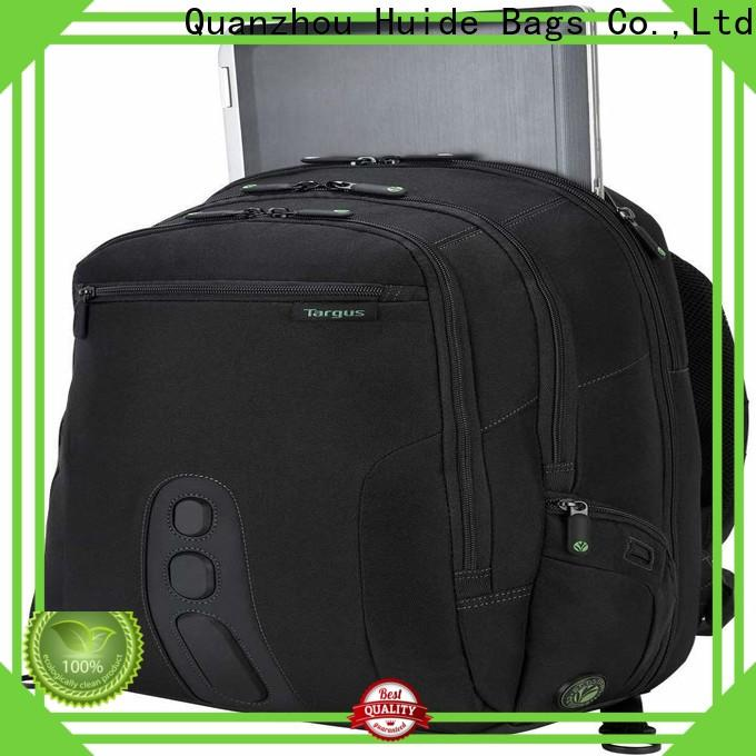 Huide charging canvas backpack wholesale company for school
