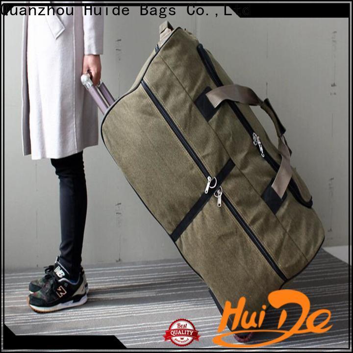 long credit card wallet & antler wheeled duffel