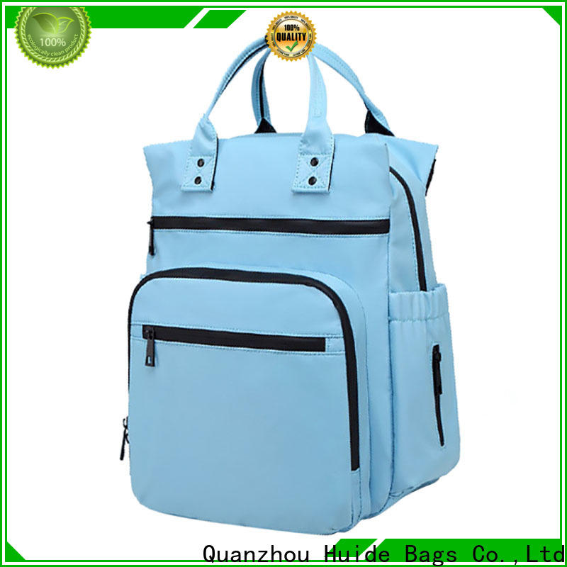 Huide Top cute fashionable diaper bags suppliers for twins