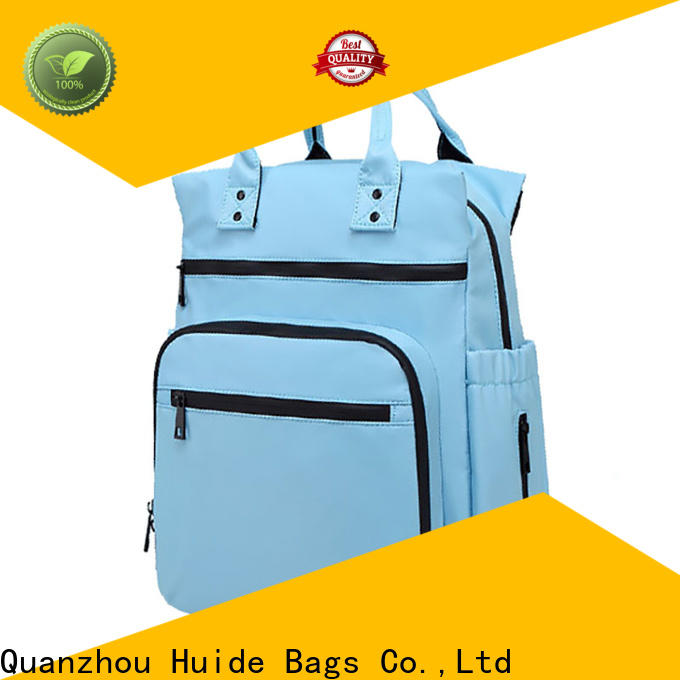 Huide durable big nappy bags manufacturers for dad