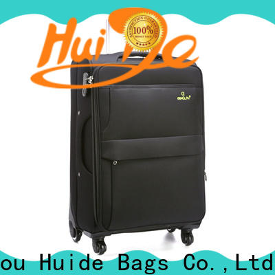 Huide Wholesale soft sided travel luggage suppliers for women