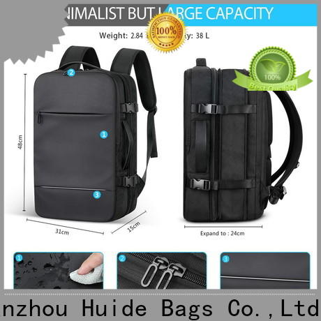 Wholesale custom logo laptop backpack water for business for work