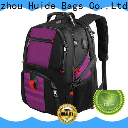 Huide luxury cool laptop backpack supply for travel