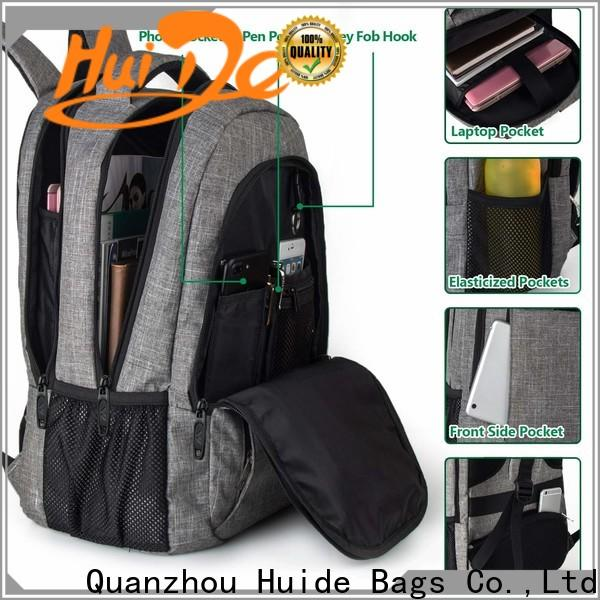 Huide rucksack casual backpack factory for travel