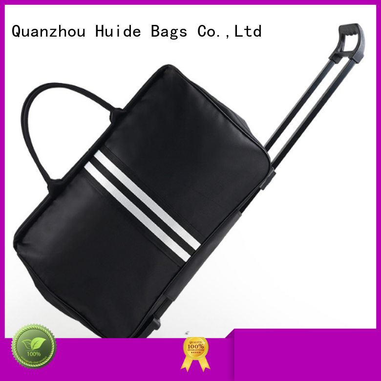 Huide canvas wheeled duffel bag ten big brand for office