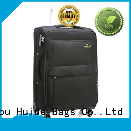 Huide waterproof soft luggage introduce for business