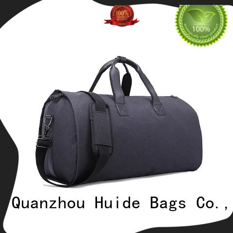 focus on portable garment bag size for suit