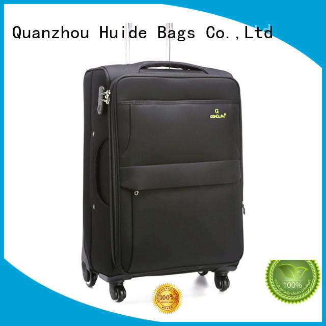 Huide making soft side luggage with wheels quotation for college girl