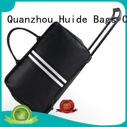 Huide professional customization canvas wheeled duffel bag list for travel