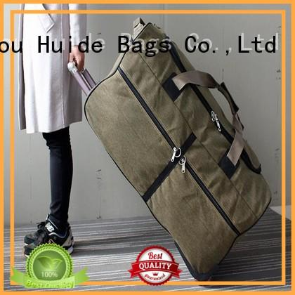 Huide canvas wheeled duffel bag ten big brand for work