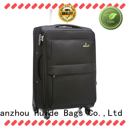 Huide how's that waterproof soft luggage product source for kids