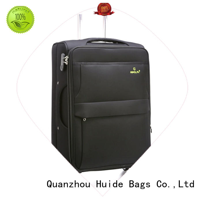 Huide popular soft side luggage with wheels introduce for college girl