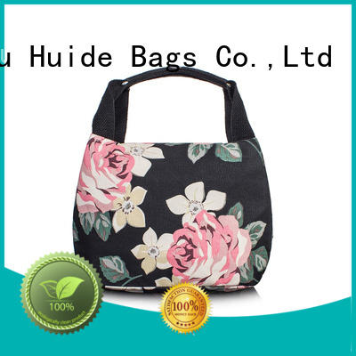 Huide fashionable zipper cooler bags supply for food