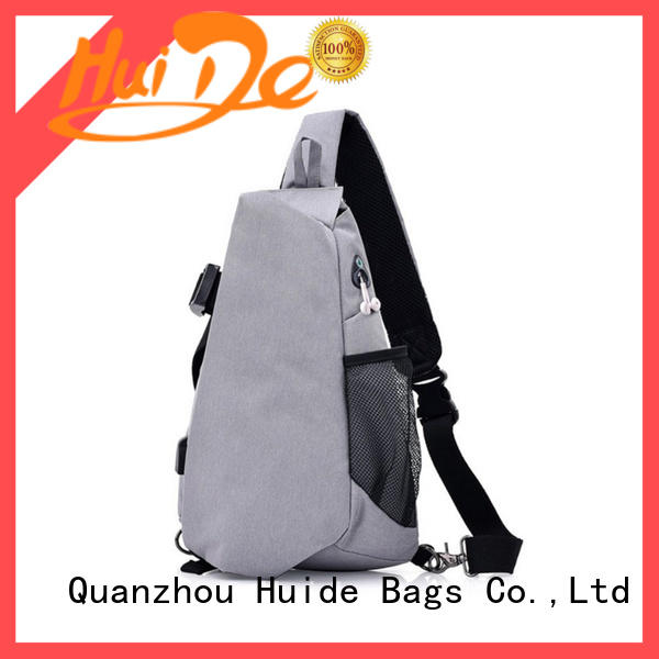 Huide canvas chest bag wholesale for girl