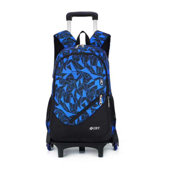 Kids Rolling School Trolley Bag Backpacks Luggage Six Wheels Unisex Trolley School Bags