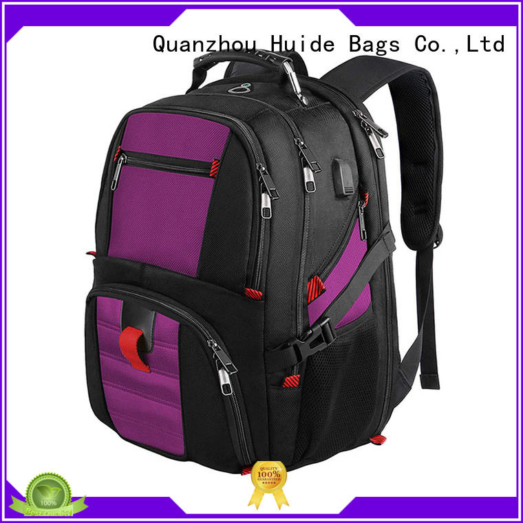 Huide luxury business backpack with luggage strap for men and women