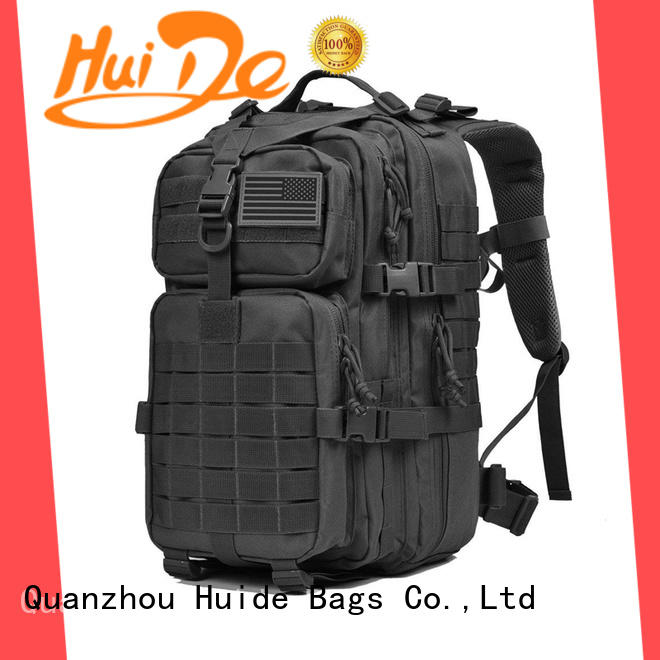 Huide military shoulder backpack manufacturers for hiking