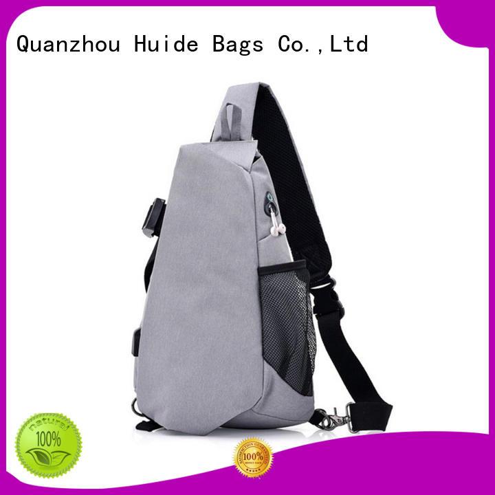 Huide canvas chest bag quotation for woman