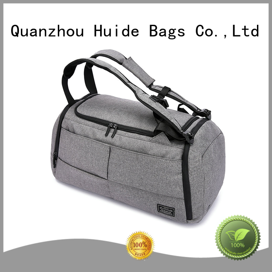 Huide high quality duffel bag and backpack wholesale price for carry on