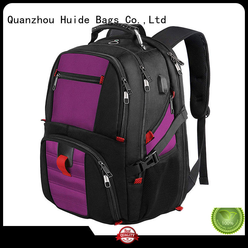 Huide best women's cyber business backpack with shoe compartment for men
