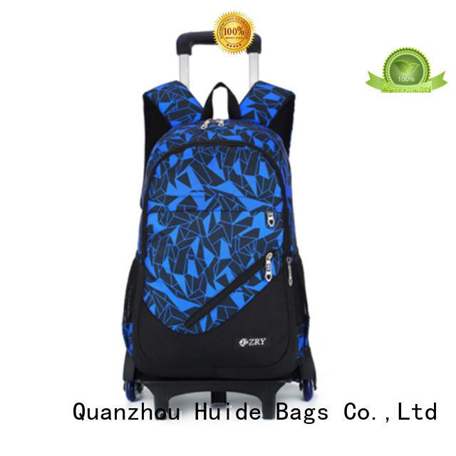Huide practical school trolley bag wholesale for girl student