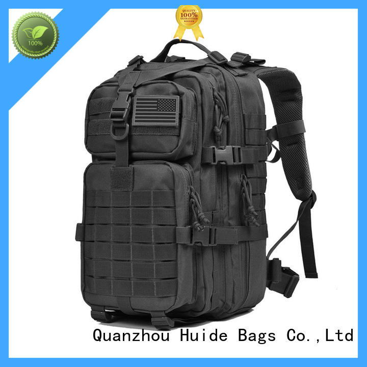 small canvas briefcase & military camping backpack