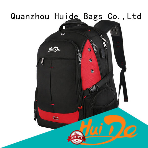 Huide best leather best backpack for business use with wheels for work