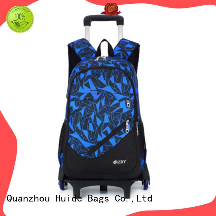 Huide international school wheelie bags wholesale for girl student