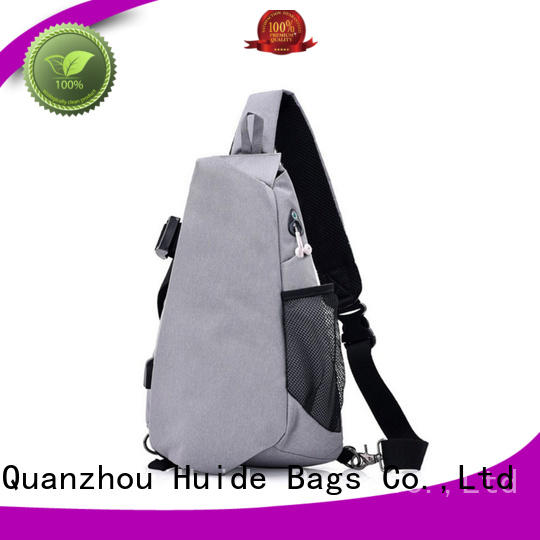 Huide personality pentagon chest bag product source for boy