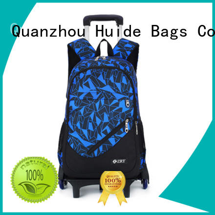 fashion best school bag with wheels wholesale for boy