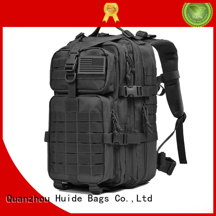 Huide selling custom military backpacks special price for man