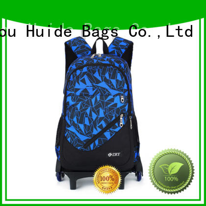 Huide fashion best school bag with wheels for sale for college commuters