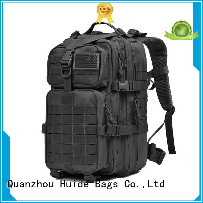 Huide durable military backpack manufacturers for man