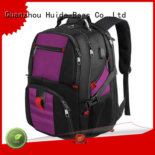 Huide one pocket business travel backpack with wheels for work