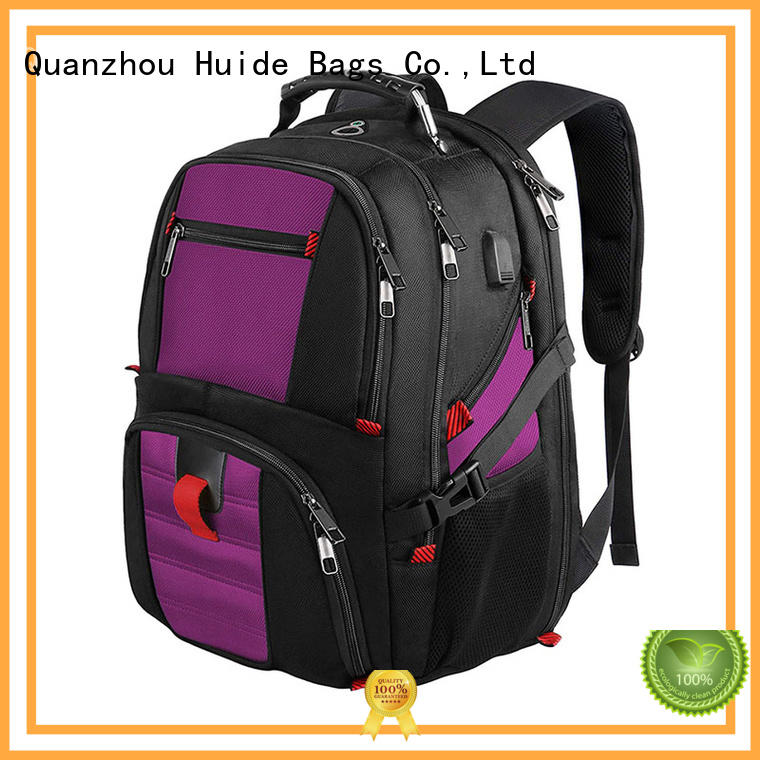 good quality business overnight backpack with water bottle holder for men and women