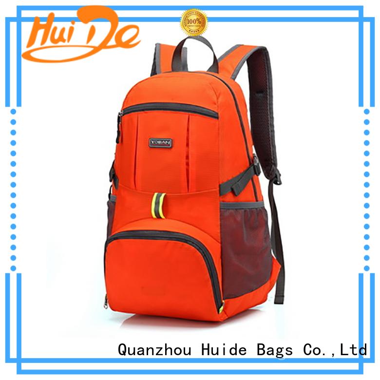 Huide foldable messenger bag quotation for travel