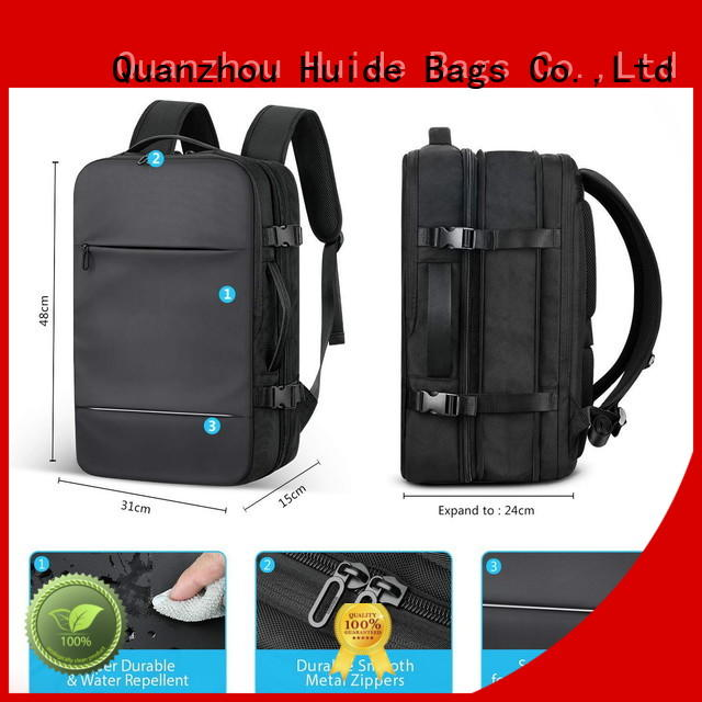 Huide cyber business backpack with shoe compartment for men and women