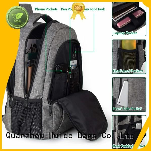 Huide waterproof casual backpack with wheels for travel