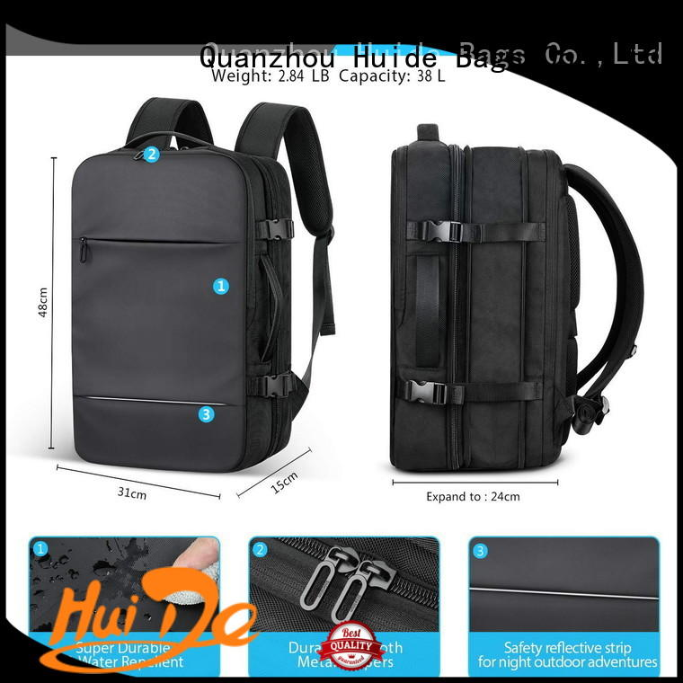 Huide business travel backpack with wheels for men
